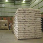 Container load of green coffee ready for export