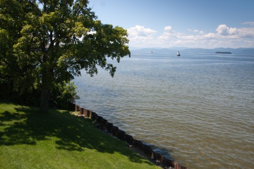 View over Lake Champlain